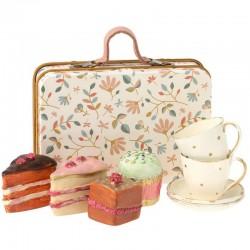 Maileg - cake set in suitcase