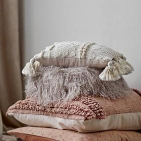 boho off-white cushion