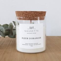 Bougie naturelle fleur d'oranger - Saugette
