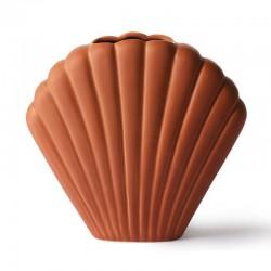 HK living shell vase, terra...