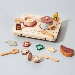 Jouet set repas en bois