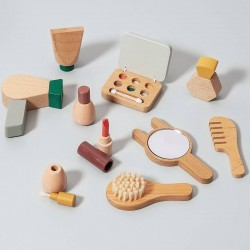 Wooden make up play set...
