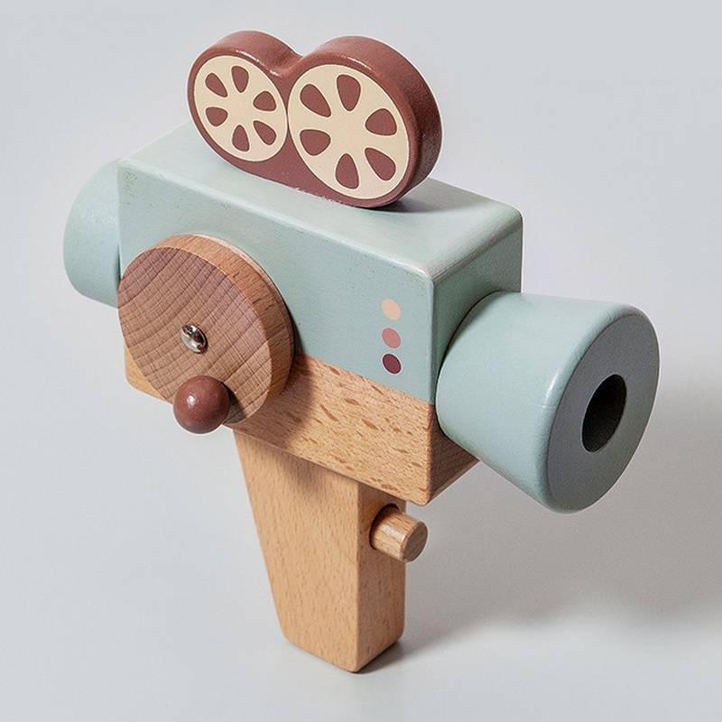 Jouet caméra en bois Petit Monkey