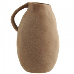 Madam Stoltz stoneware vase with handle (L)