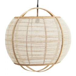 Suspension boule, bambou & lin Madam Stoltz