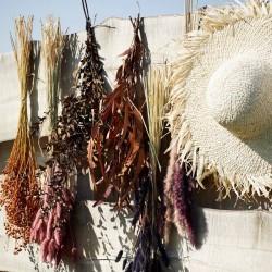 Chapeau de paille naturel à franges Madam Stoltz