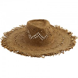 Chapeau de paille naturel brun Madam Stoltz