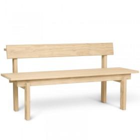 """Banc en bois naturel - extérieur / intérieur """"Pika"""" Ferm living"""