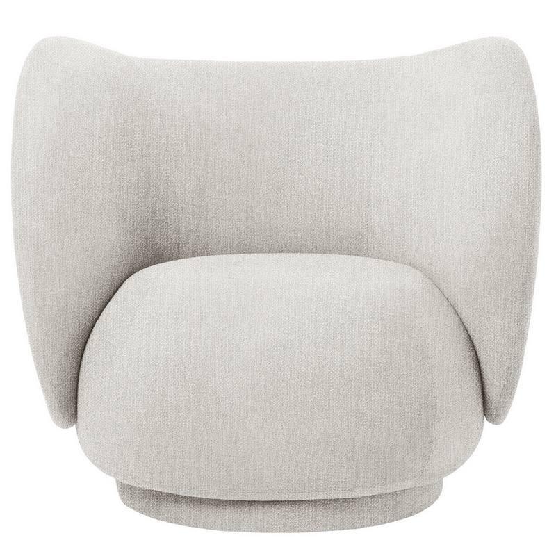 """Fauteuil """"Lounge chair Rico"""" bouclé Ferm living"""