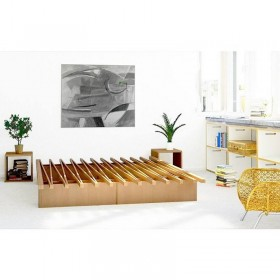 lit accordéon en bois, 100% naturel