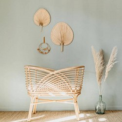 Cradle in natural rattan...