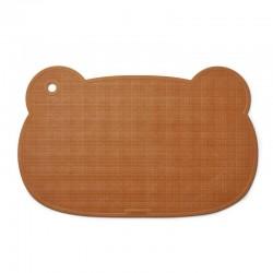 Liewood - tapis de bain bébé ourson, moutarde
