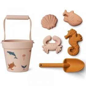 """Liewood jouets de plage bébé : sea creature, rose """"Dante"""""""