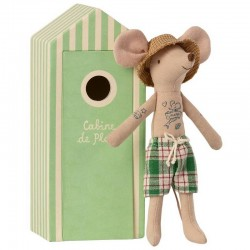 Maileg beach dad mouse in...