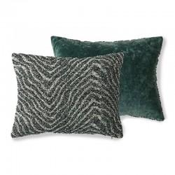 """Coussin vert """"jacquard weave"""" Doris for HK Living"""