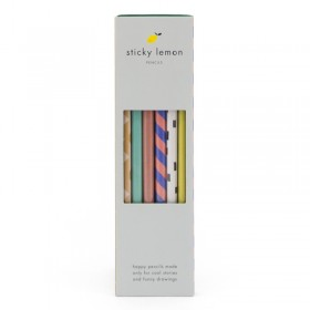 Boîte cadeau de 6 crayons à papier Sticky Lemon