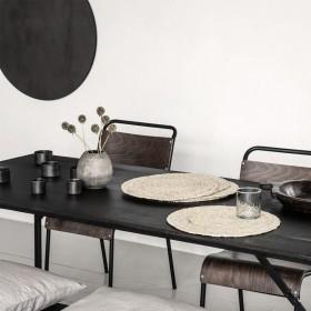 Lot de 4 Sets de table ronds naturels D38cm