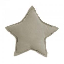 Numero 74 coussin étoile beige, small D30cm
