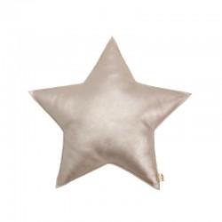 Numero 74 petit coussin étoile simili irisé