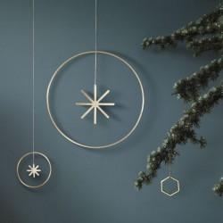 Ferm Living christmas ornament - winterland brass star - Large