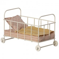 Maileg cot bed micro, rose