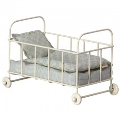 Maileg cot bed micro, blue
