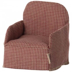 Maileg chair, mouse, red