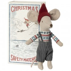 Christmas mouse doll in a matchbox from Maileg