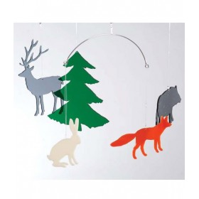 BOMBDESIGN - Mobile *Wildlife in the forest* 5 motifs