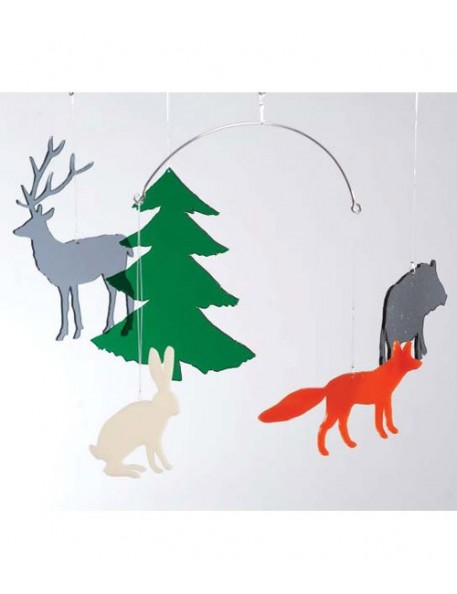 BOMBDESIGN - Mobile *Wildlife in the forest* 5 motifs