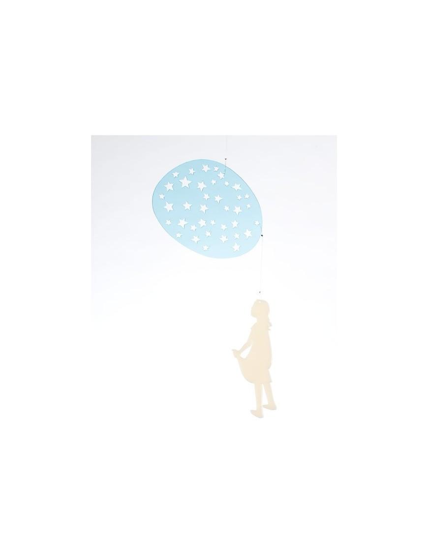bomb design mobile fillette dans les étoiles