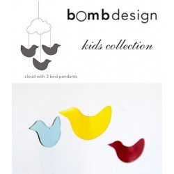 bomb design mobile nuage et 3 oiseaux