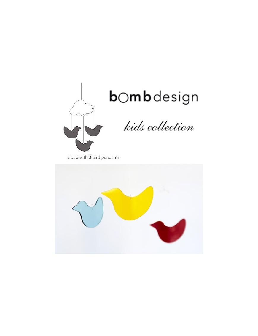 BombDesign - Mobile 3 Birds and a cloud