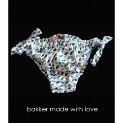 bakker made with love - girl bikini swimsuit * blue tegel*