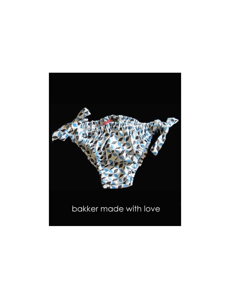 bakker made with love - girl bikini swimsuit * blue tegel*