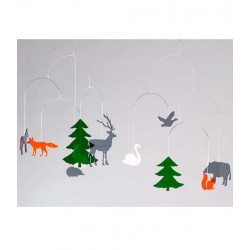 BOMBDESIGN - Mobile *Wildlife in the forest* 10 motifs