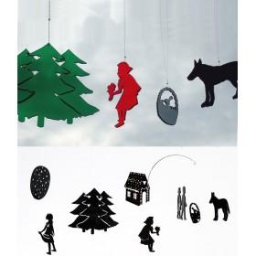 bomb design mobile *fairy tales* 8 pièces