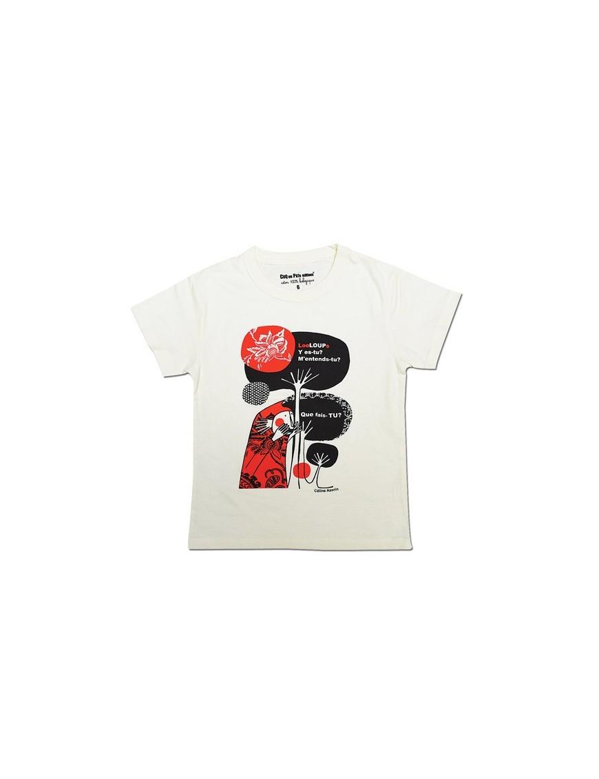 NEW! CoqenPâte 100% Organic T-Shirt *Wolf*