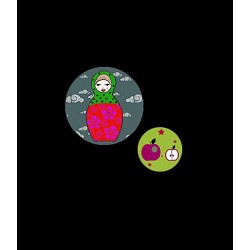 Georges&Rosalie - Set de 2 badges Matryoshka