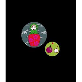 Georges&Rosalie - Set of 2 badges Matryoshka and apple