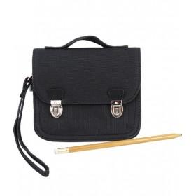 MINISERI - Black leather purse