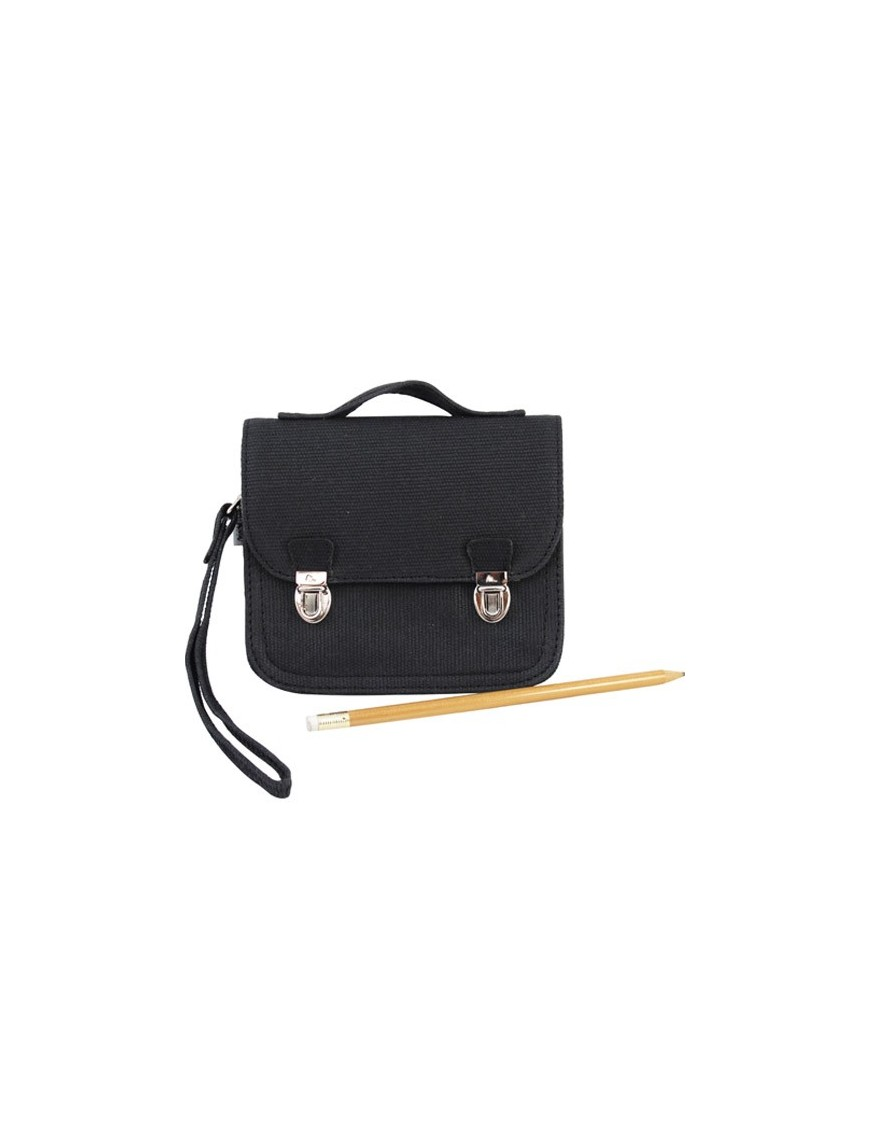 MINISERI - Black leather purse