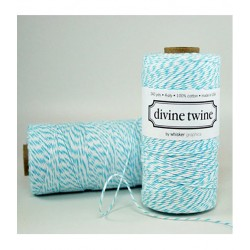 Divine Twine - Ficelle Baker Twine - Aqua/Turquoise