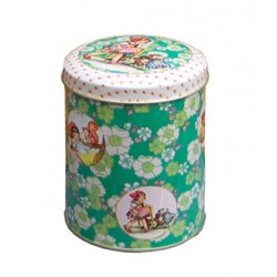 FROY & DIND - Little Girl Cilinder Tin Box