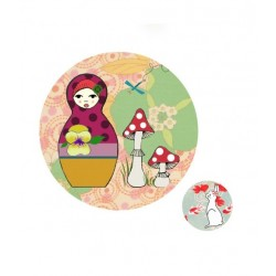 Georges&Rosalie - 2 Magnets - Matrioschka et Lapin blanc