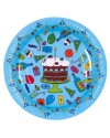RICE - 8 Birthday Paper Plate - Turquoise
