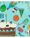 RICE - Lot de 8 Petites Assiettes d'anniversaire en papier - turquoise