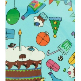 RICE - 8 Small Birthday Paper Plates - Turquoise