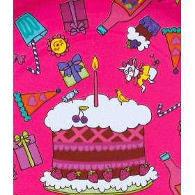 RICE - 8 Small Birthday Paper Plate - Fuchsia