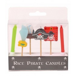 RICE - 6 Bougies Assorties - Pirate